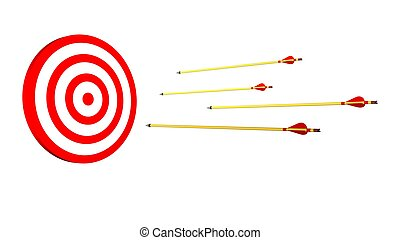 Arrows and target  - Arrows and target
