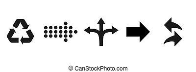 Arrows black set icons. Arrow collection