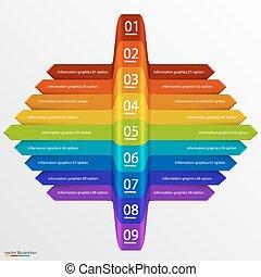 Arrows business growth rainbow art. Vector illustration