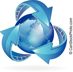 Arrows business world logo