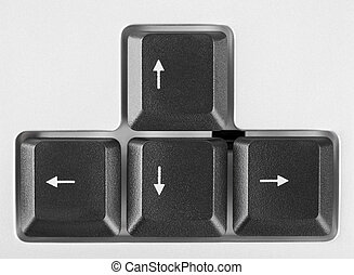 Arrows buttons on computer keyboard