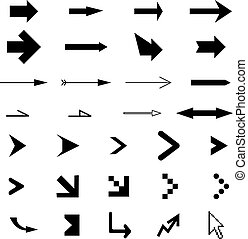 many different arrows