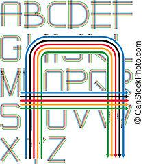 arrows color alphabet