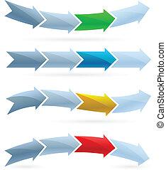 Arrows. Competition concept - Arrows set. Competition...