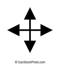 arrows crossed computer icon