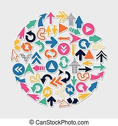 arrows design over blue background vector illustration