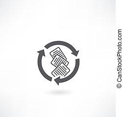 arrows documents icon
