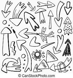 arrows doodles set
