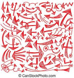 arrows - doodles set