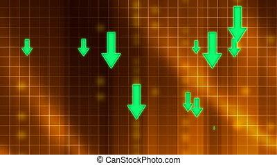 Arrows Down Background Loop