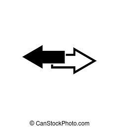 Arrows download outline icon isolated. Symbol, logo illustration for mobile concept and web design.