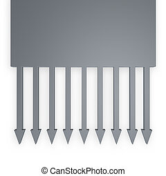 downward - arrows downward on white background - 3d ...