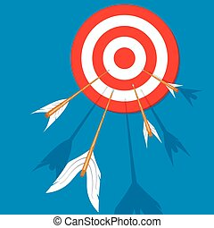 Arrows flying at the target