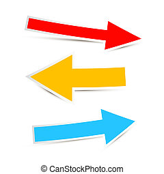 Arrows Icon Set Illustration Isolated on White Background