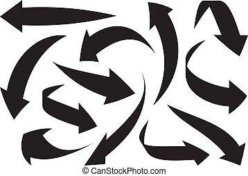 Arrows icon set. Vector