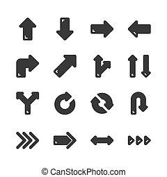 Arrows icon set. Vector illustration
