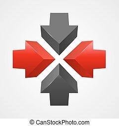 Arrows icon vector template.