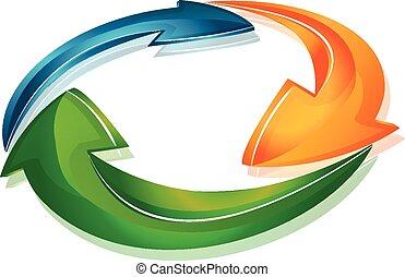 Arrows in a loop modern web design