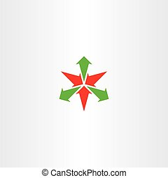 arrows in and out vector icon logo symbol