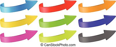 Arrows in different colors illustration