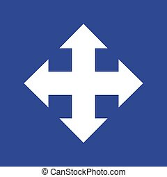 Arrows in four directions. Icon Vector eps10
