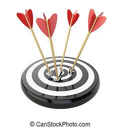 Arrows in target