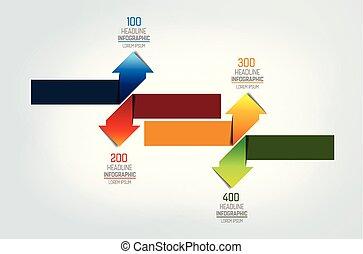 Arrows   infographic, chart, scheme, diagram.
