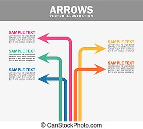 arrows infographics over white background vector...