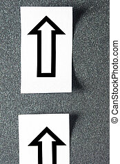 Arrows isolated on grey background