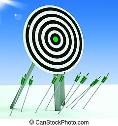 Arrows On Floor Showing Poor Accuracy And Ineffective Aiming