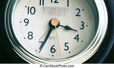 arrows run on the alarm clock timelapse video.
