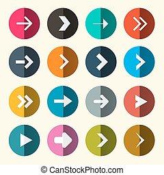 Arrows Set in Circle