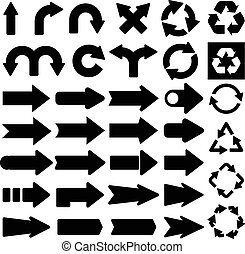 Set of useful arrows. Usable for different design.