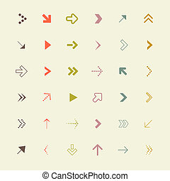Arrows Set Vector Illustration
