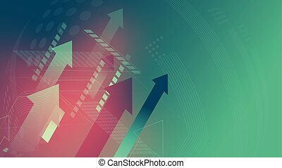 Arrows sign technology green background