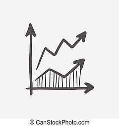Arrows sketch icon for web and mobile. Hand drawn vector...