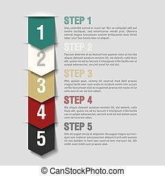 Arrows steps design template