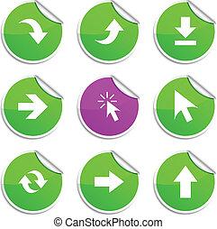 Arrows  stickers.