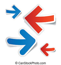 Arrows stickers - Vector illustration of arrows stickers