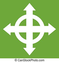 Arrows target icon green