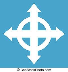 Arrows target icon white