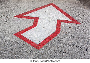 Arrows, the road
