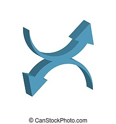 arrows up and down 3d style icon