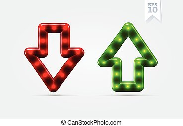 Arrows up and down vector icons