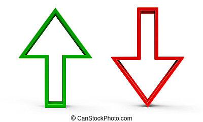 Arrows up & down - Arrow up & arrow down icons isolated on ...