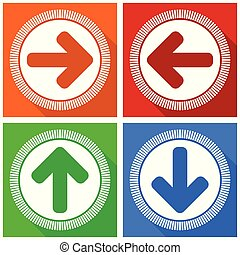Arrows up down left right vector icons