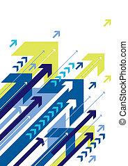 arrows, vector - blue arrow design, vector