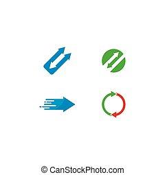 Arrows vector illustration icon Logo Template