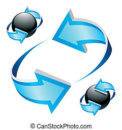 Arrows - Vector illustration. It can be used in different...