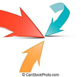 Arrows - Vector Illustration on White Background